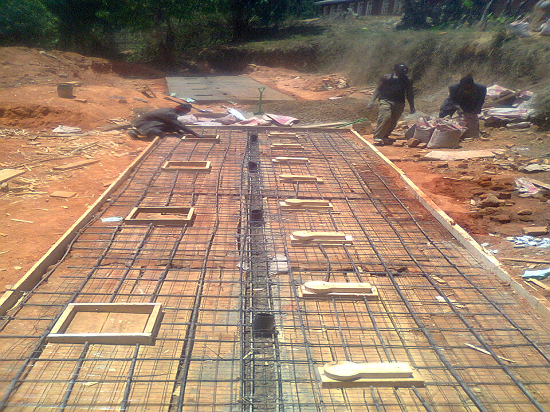 Foundation During Latrines Construction at Uchindile