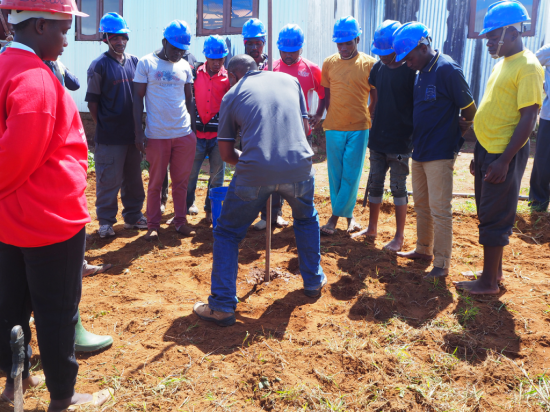 The participants trained on how to drill the Tube Well using SHIPO Drilling Method