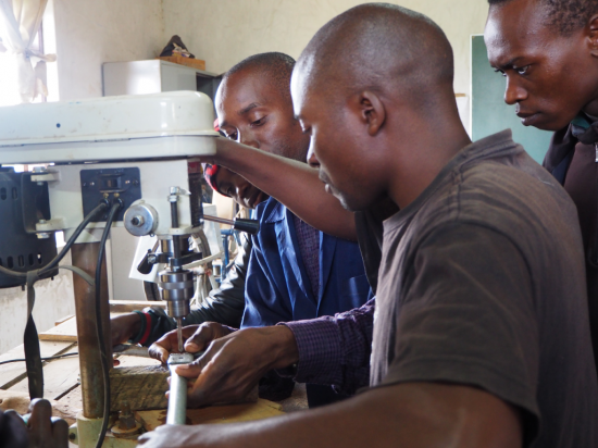 Rope Pump Production (Rope Pump Handle) with Trainer Mr. James Malekano