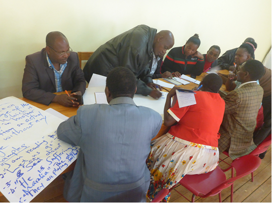 Group Discussion During INSET Training at SHIPO